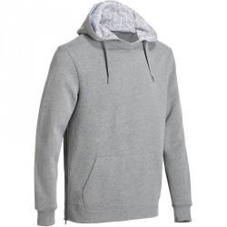 Sweat capuche avec zippes côtés Gym & Pilates homme gris