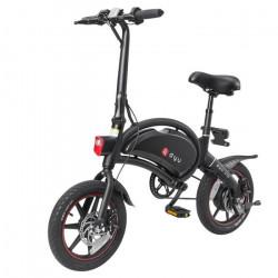Trottinettes Électriques Moteur 250W scooter electrique 10Ah Batterie,vélo pliant E 14- pneus 25km/h(noir)