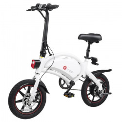Trottinette Électrique Moteur 250W scooter electrique 10Ah Batterie,vélo pliant E 14- pneus 25km/h(blanc)