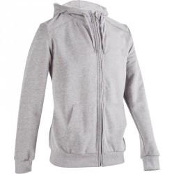 Veste capuche molleton Gym & Pilates homme gris