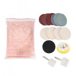 Trousse de polissage de vitre kit anti-rayures disques feutre à tampon polonais-CHE