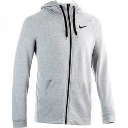 Veste à capuche gym pilates homme grise