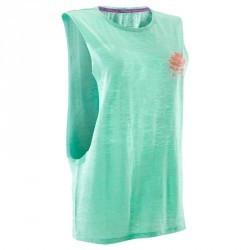 T shirt sans manche danse vert menthe femme