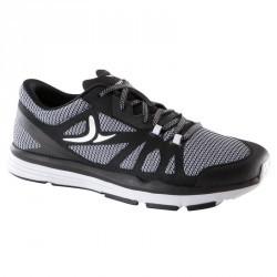 Chaussures fitness cardio 900 femme noir et blanc