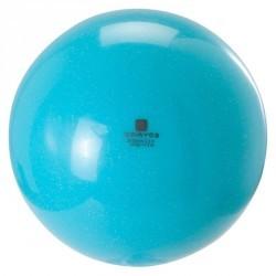Ballon de gymnastique rythmique 185 mm paillettes turquoise