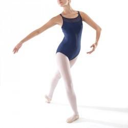 Justaucorps de Danse Classique bretelles croisées femme marine.