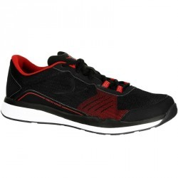 Chaussures fitness cardio 500 homme noir et rouge