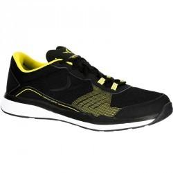 Chaussures fitness cardio 500 homme noir et jaune