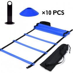 19 pieds Echelle de Coordination Agilite Ladder pour la vitesse Football Sports Football Fitness Pieds formation HB014 -OLL