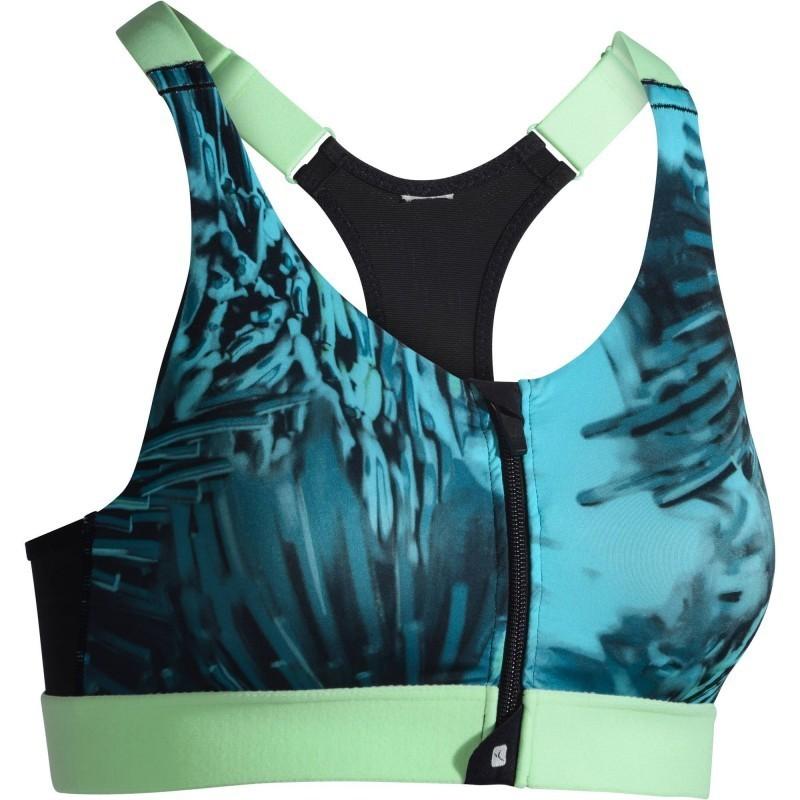 Avis   test - Brassière Zip fitness cardio femme imprimés tropicaux ... a40ee566ae2