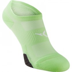 Chaussettes invisibles fitness x2 vert