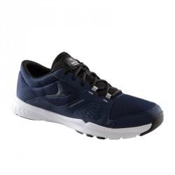 Chaussures fitness cardio 100 homme noir et bleu
