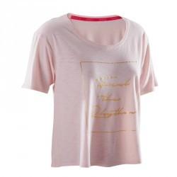 T-shirt court de danse femme rose pâle