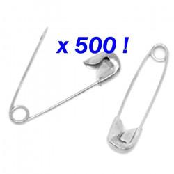 500 Epingles DOSSARD épingle de sureté 19 mm à nourrice