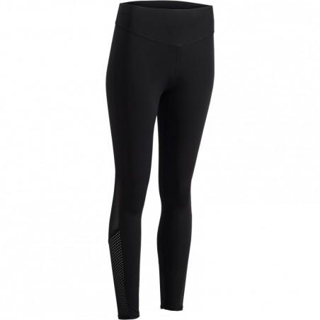 Legging fitness cardio femme noir 900 Domyos