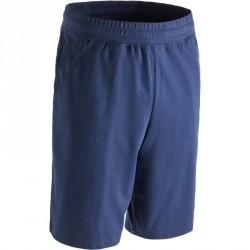 Short 500 regular au dessus du genou Gym & Pilates homme bleu marine