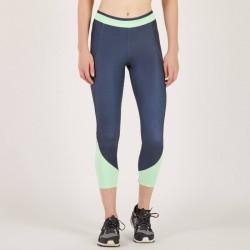 7/8 fitness cardio femme bicolore bleu et vert 100 Domyos
