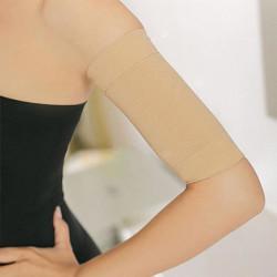 1 Pairede  Brassard amincissant Bandeaux Minceur Anti cellulite coloris peau chair  neuf sous blister