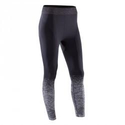 Legging YOGA sans coutures femme 7/8 noir/silver