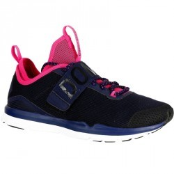Chaussures fitness cardio 500 mid femme bleu et rose