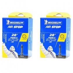2X Chambre A AIR Michelin 700 x 35/47 (35/47-622/635) A3 28- Valve Presta 40MM AIRSTOP Butyl Velo Gravel VTT VTC Route Chemin