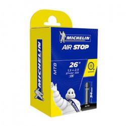Chambre A AIR Michelin Velo 26 x 1,50-2,50- (37/62-559) C4 Valve Schrader 35MM VTT AIRSTOP Butyl