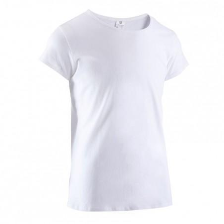 T-Shirt manches courtes Gym fille blanc