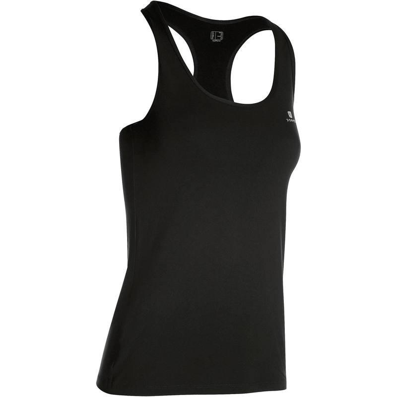 Débardeur fitness cardio femme noir MY TOP