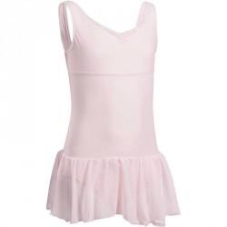Justaucorps de danse classique DÉLIA avec jupette intégrée fille rose