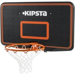 Panneau de basket enfant/adulte B300 noir orange. A fixer au mur.