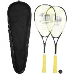SET DE RAQUETTES DE SQUASH SR 130 ORANGE