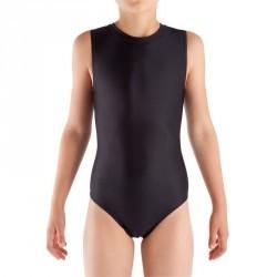 Justaucorps sans manches Gymnastique Fille (GAF et GR) noir.