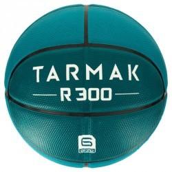 Ballon de basket femme R300 taille 6 vert. Résistant. A partir de 10 ans.