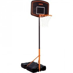 Panier de basket enfant B200 EASY bleu orange. 1,60m à 2,20m. Jusqu'à 10 ans.