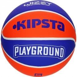 Ballon de basket enfant Wizzy Playground bleu orange taille 5. Jusqu'à 10 ans.