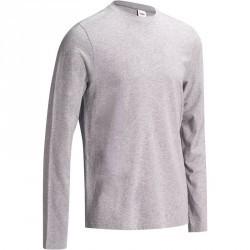 T-Shirt manches longues Gym & Pilates homme gris chiné moyen