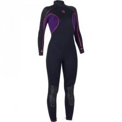 Combinaison intégrale Femme de plongée SCD 100 3mm avec fermeture dorsale.