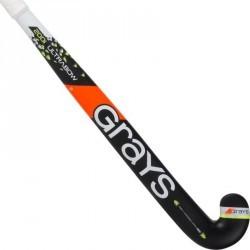 Crosse de hockey sur gazon en bois adulte 200i noire et jaune