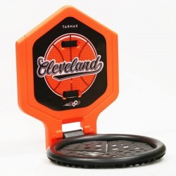 Panier de basket enfant/adulte THE HOOP Cleveland orange. Transportable.