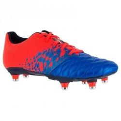 Chaussure de rugby enfant 6 crampons Agility 500 SG bleue orange