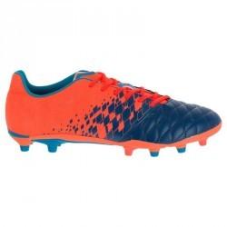 Chaussure de rugby adulte terrains secs Agility 500 FG orange bleue
