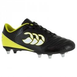 Chaussure de rugby adulte terrains gras 8 crampons Stampede SG noir/jaune