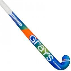 Crosse de hockey sur gazon en bois et fibreglass adulte GX2000 vert bleu