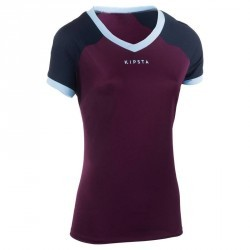 Maillot rugby FH 500 Femme Prune/marine