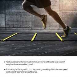 Échelle de Rythme Entrainement Football 4m, ballon de football vitesse entraînement de fitness vitesse échelle de saut