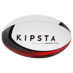 Ballon rugby Full H 900 taille 5 noir rouge
