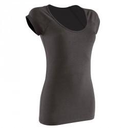 T-Shirt manches courtes slim Gym & Pilates femme noir