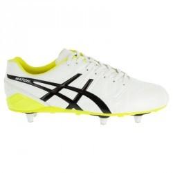 Chaussure de rugby adulte 6 crampons Asics Match SG Blanc/Noir
