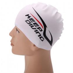 bonnet de bain en silicone Maillots de bain de natation en silicone élastique unisexe bonnet de bain long bonnet de bain