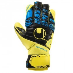 Gants de gardien football Speed Up Soft HN Comp aune fluo Noir Bleu Hydro